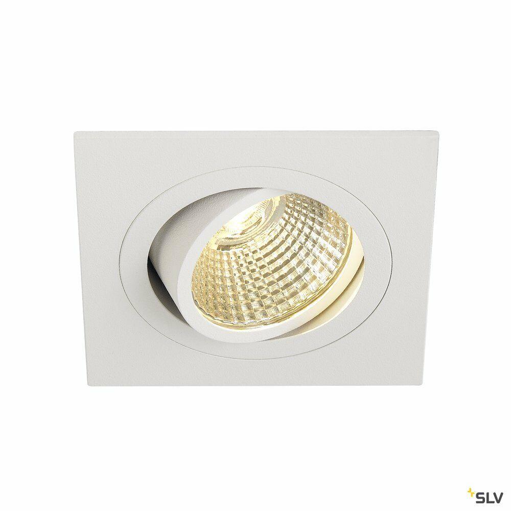 NEW TRIA 1 SET, Einbauleuchte, einflammig, LED, 2700K, eckig, weiß, 38°, 9,1W, inkl. Treiber, Clipfedern