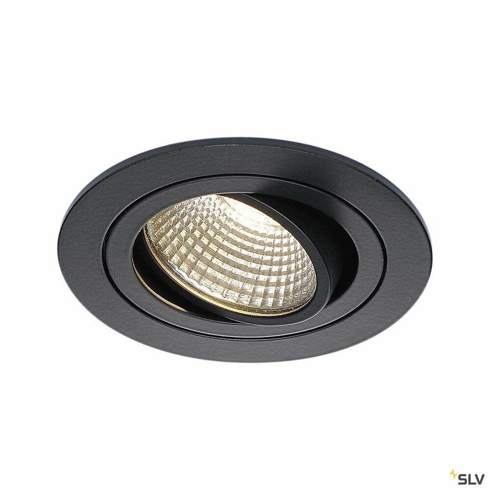 NEW TRIA 1 SET, Einbauleuchte, einflammig, LED, 3000K, rund, schwarz matt, 38°, 9,1W, inkl. Treiber, Clipfedern