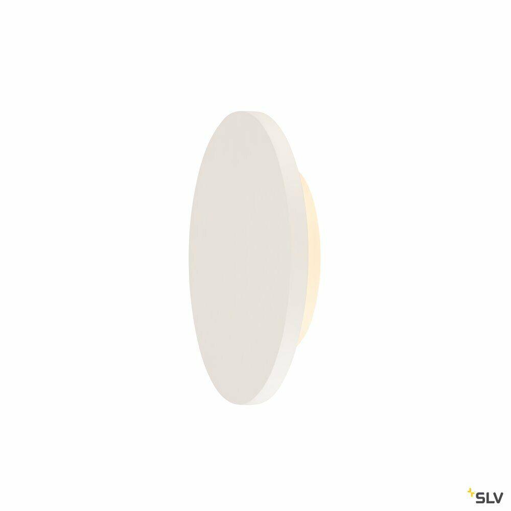 PLASTRA, Wandleuchte, LED, 3000K, rund, weißer Gips, Ø 30cm