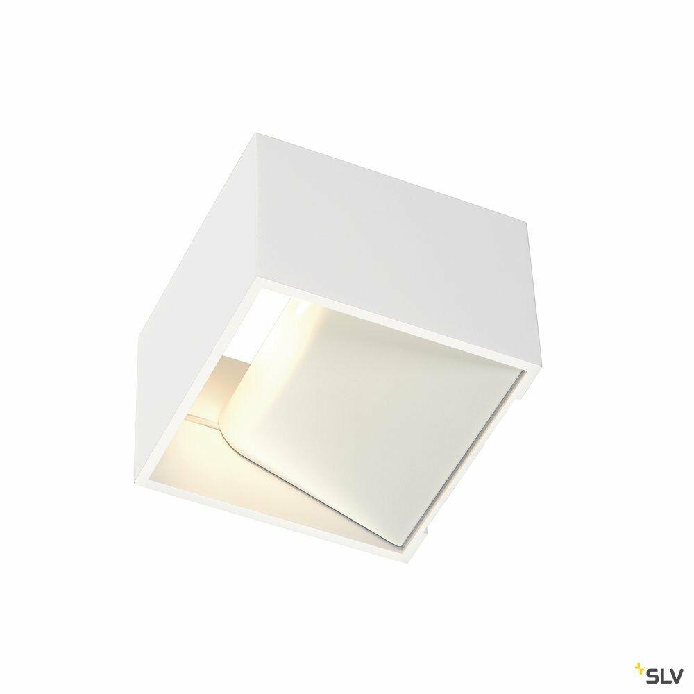 LOGS IN, Wandleuchte, LED, 3000K, eckig,  weiß, inkl. LED-Treiber