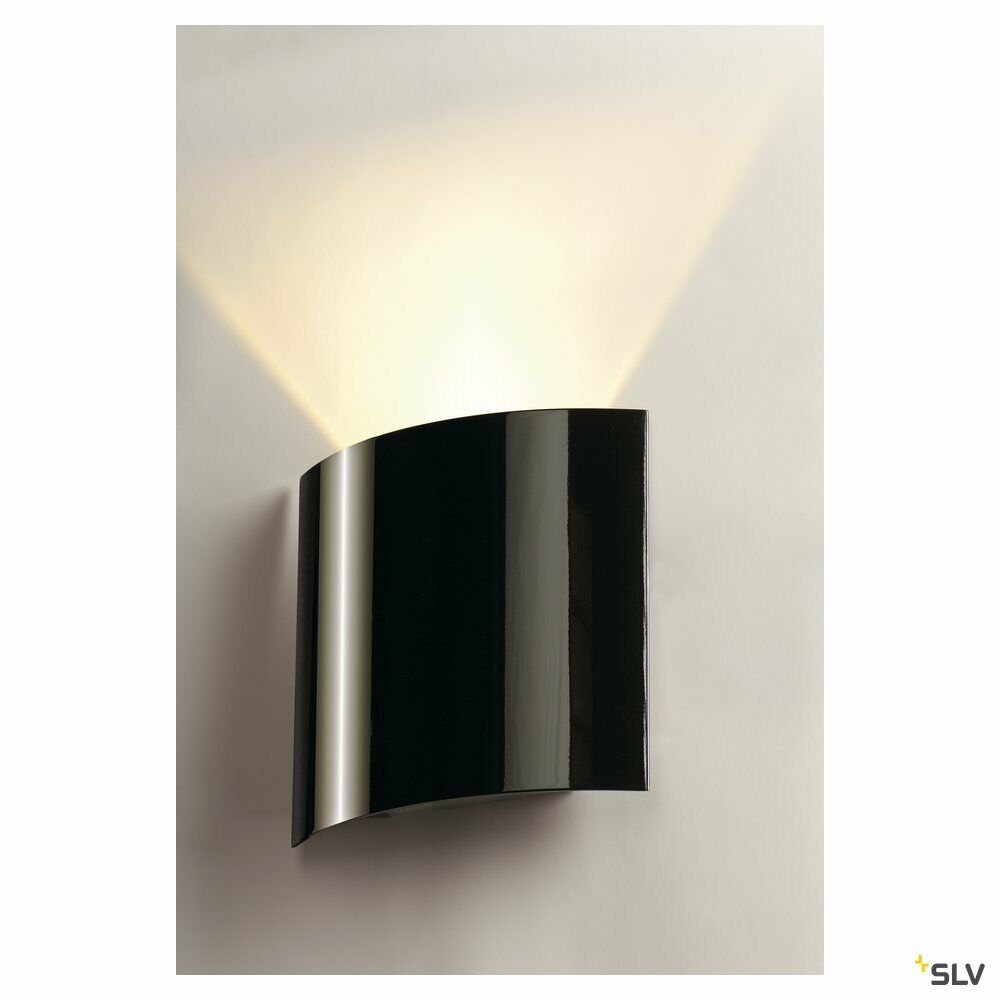 LED SAIL 1, Wandleuchte, LED, 3000K, halbrund, schwarz hochglänzend, L/B/H 21/6/20