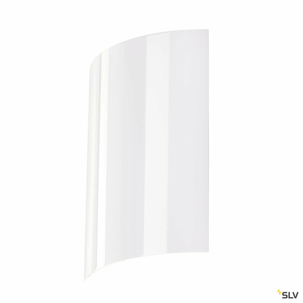 LED SAIL 2, Wandleuchte, LED, 3000K, halbrund, weiß hochglänzend, L/B/H 21/6/30