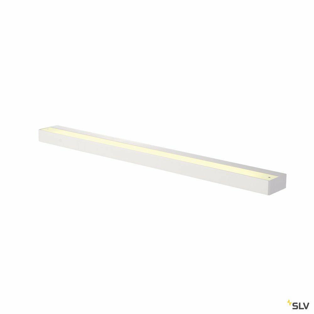 SEDO 21, Wandleuchte, LED, 3000K, eckig, weiß, Glas satiniert, Energiesparleuchte, L/B/H 89,5/8,5/4 cm, 33 W
