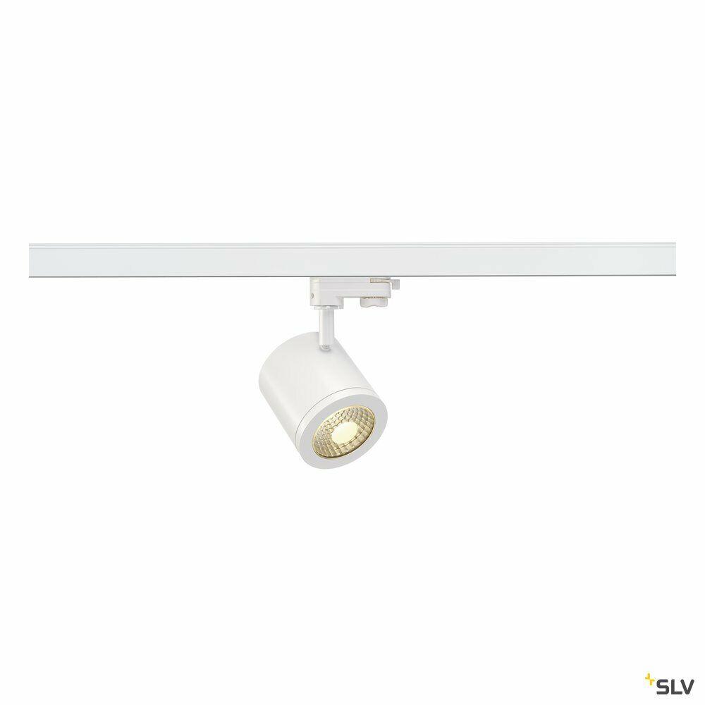 ENOLA_C, Spot für Hochvolt-Stromschiene 3Phasen, LED, 3000K, rund, weiß, 55°, 11,2 W, inkl. 3Phasen-Adapter