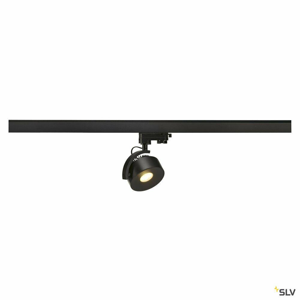 KALU TRACK, Spot für Hochvolt-Stromschiene 3Phasen, LED, 3000K, rund, schwarz, inkl. 3Phasen-Adapter