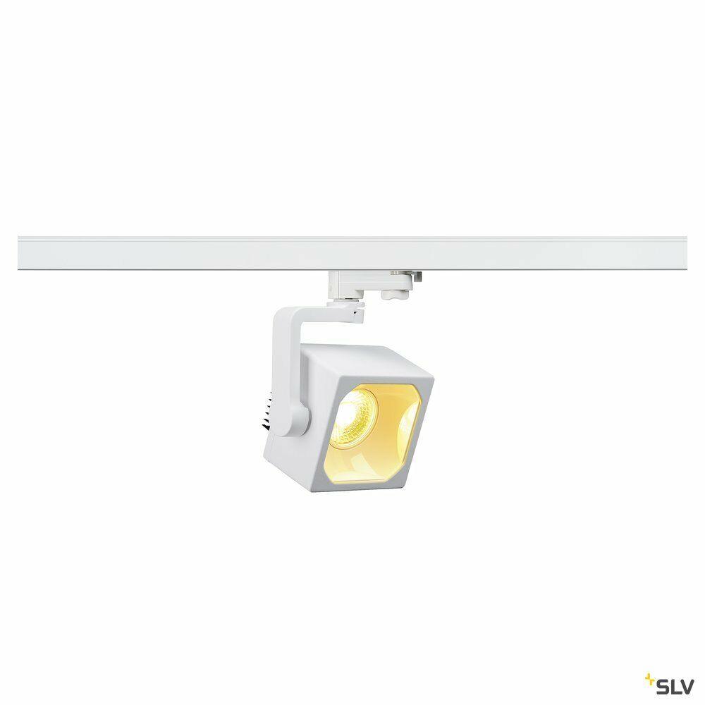 EURO CUBE, Spot für Hochvolt-Stromschiene 3Phasen, LED, 3000K, weiß, 60°, inkl. 3Phasen-Adapter