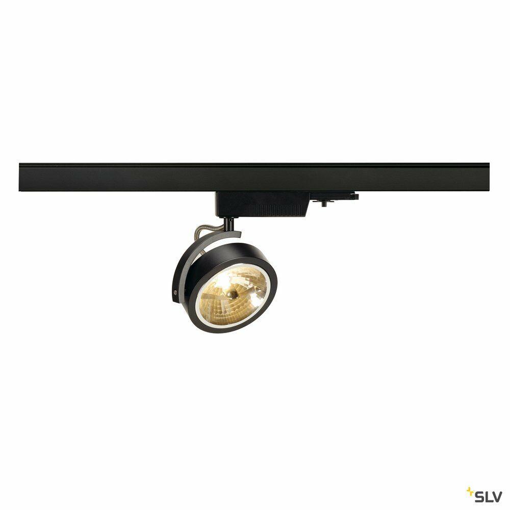 KALU TRACK, Spot für Hochvolt-Stromschiene 3Phasen, QR111, schwarz, max. 50W, inkl. 3Phasen-Adapter