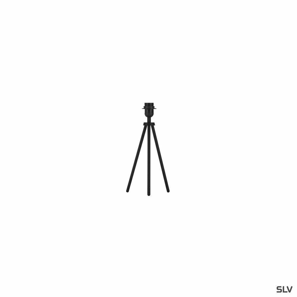FENDA, Tischleuchte, Leuchtenfuß, A60, schwarz, ohne Schirm, max. 40W, inkl. Schalter im Netzkabel