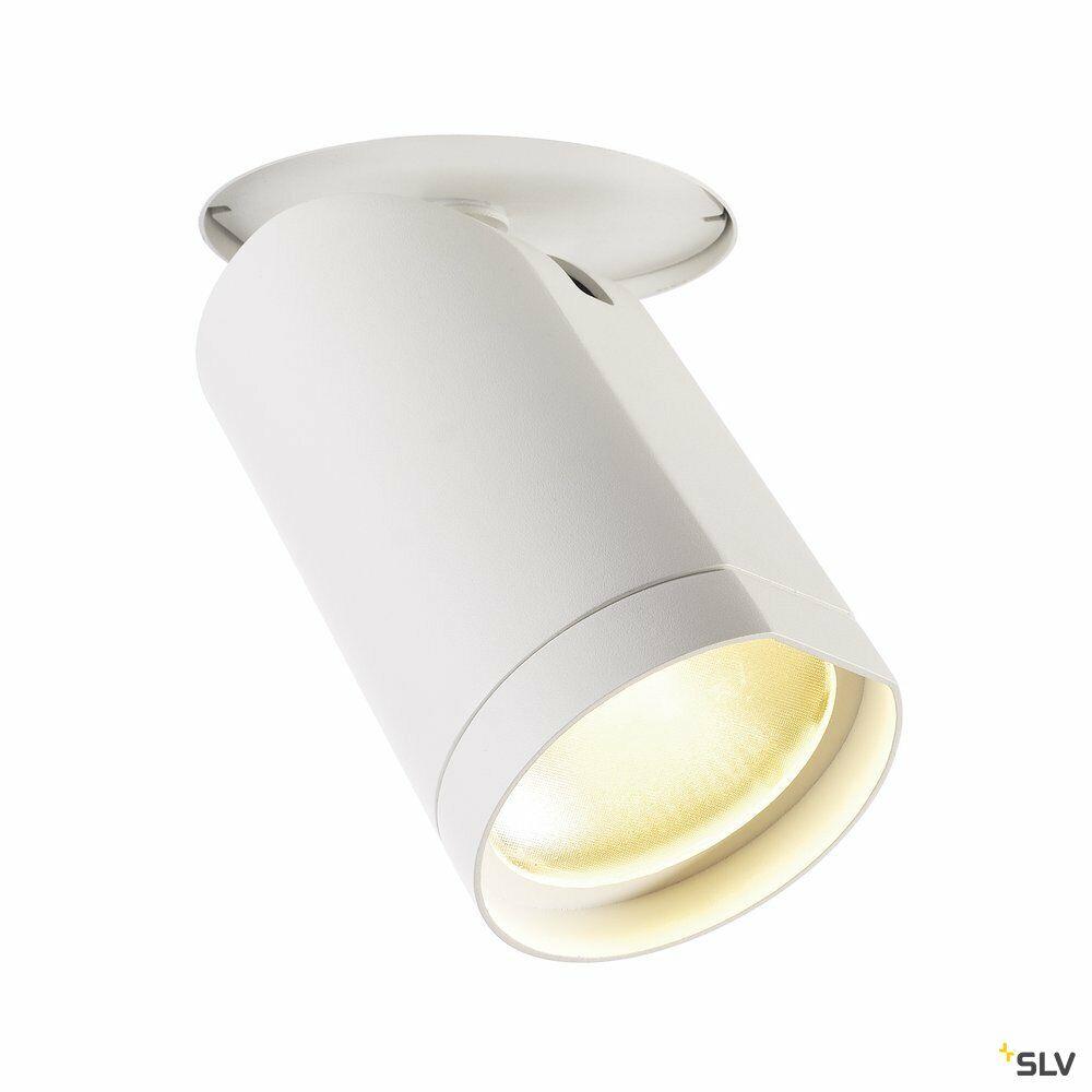 BILAS, Deckeneinbauleuchte, LED, 2700K, rund, weiß matt, 60°, 21W