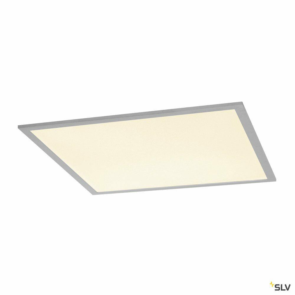 I-VIDUAL, Einbauleuchte, LED, 3000K, silber, für Rasterdecken, L/B/H 61,7/61,7/1,3 cm, 35W