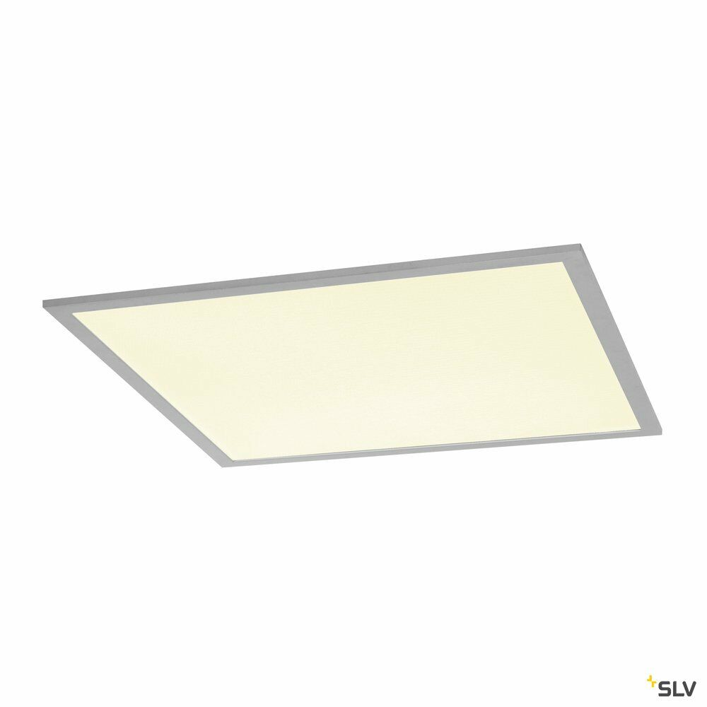 I-VIDUAL, Einbauleuchte, LED, 4000K, silber, für Rasterdecken, L/B/H 61,7/61,7/1,3 cm, 35W