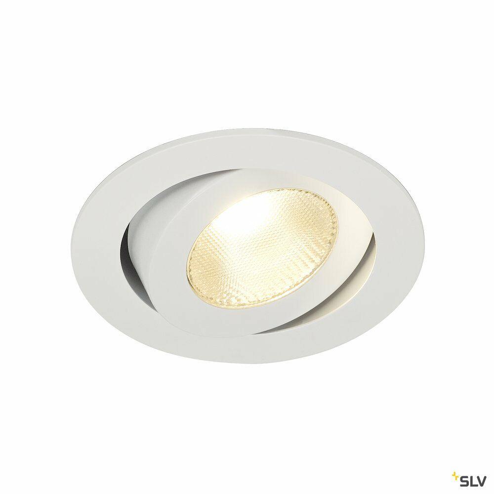 CONTONE, Einbauleuchte, LED, 2000-3000K, rund, weiß, schwenkbar, 13W, inkl. Blattfedern