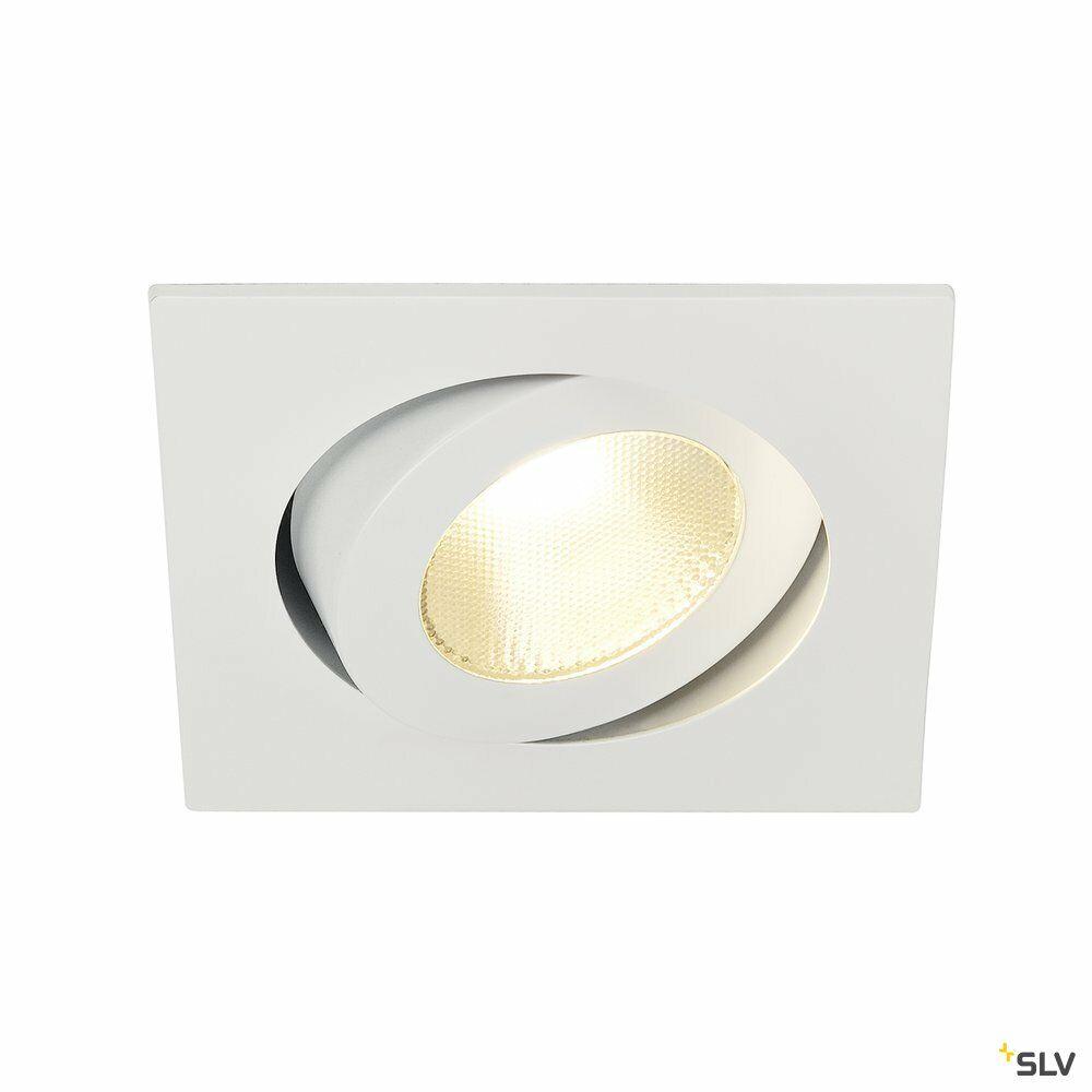 CONTONE, Einbauleuchte, LED, 2000-3000K, eckig, weiß, schwenkbar, 13W, inkl. Blattfedern