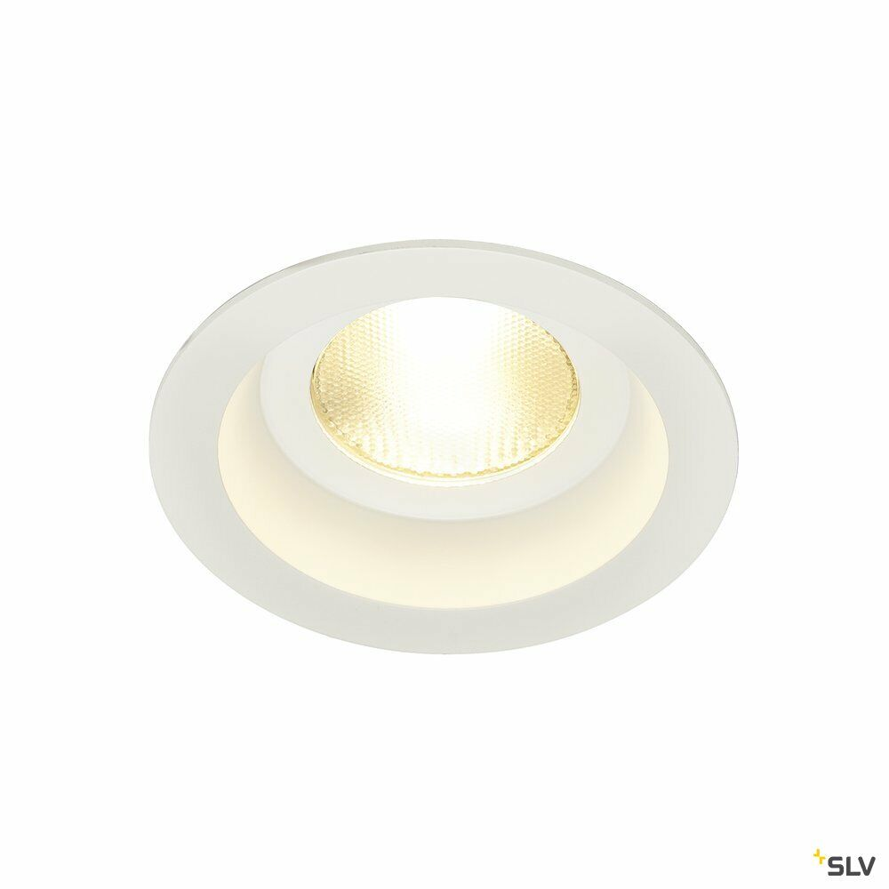 CONTONE, Einbauleuchte, LED, 2000-3000K, rund, weiß, starr, 13W, inkl. Blattfedern