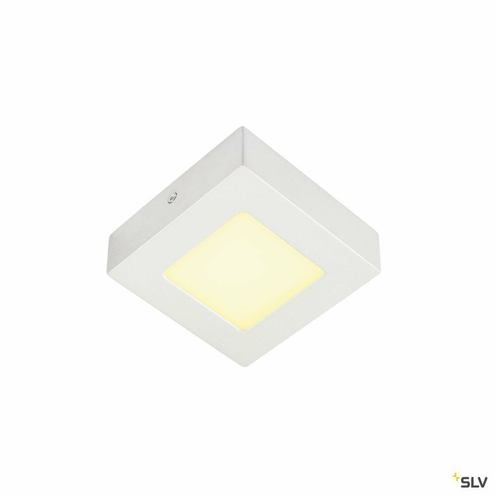 SENSER 12, Wand- und Deckenleuchte, LED, 3000K, eckig, weiß, 6W