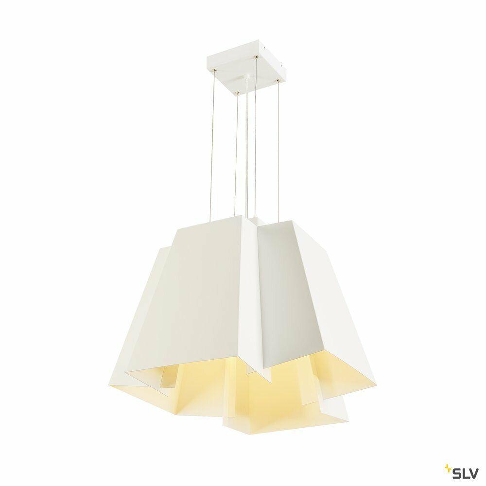 SOBERBIA 53, Pendelleuchte, LED, 2700K, eckig, weiß, L/B/H 53/53/47 cm