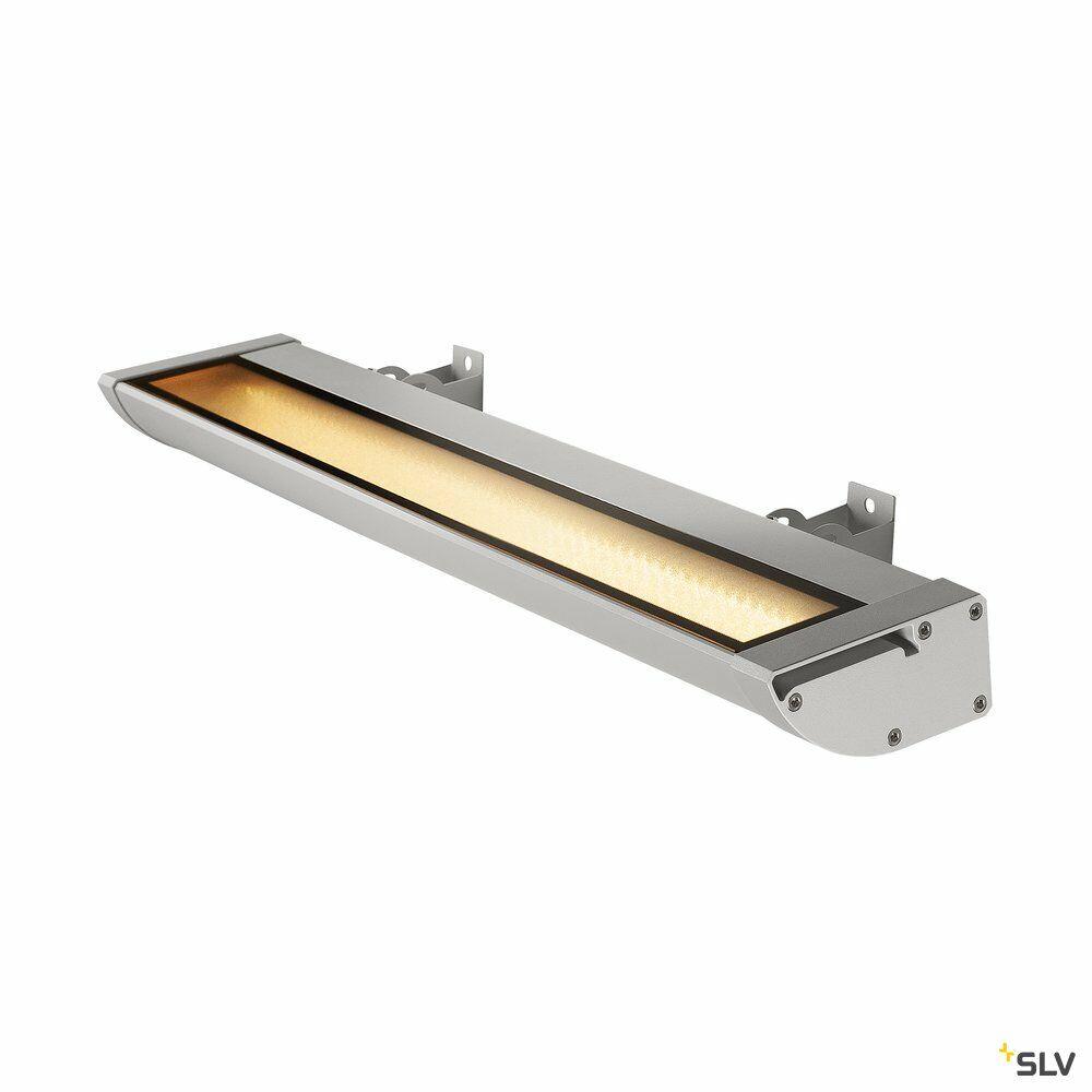 VANO WING, Outdoor Strahler, LED, 3000K, silbergrau, B/H/T 63,5/6,5/20,5 cm