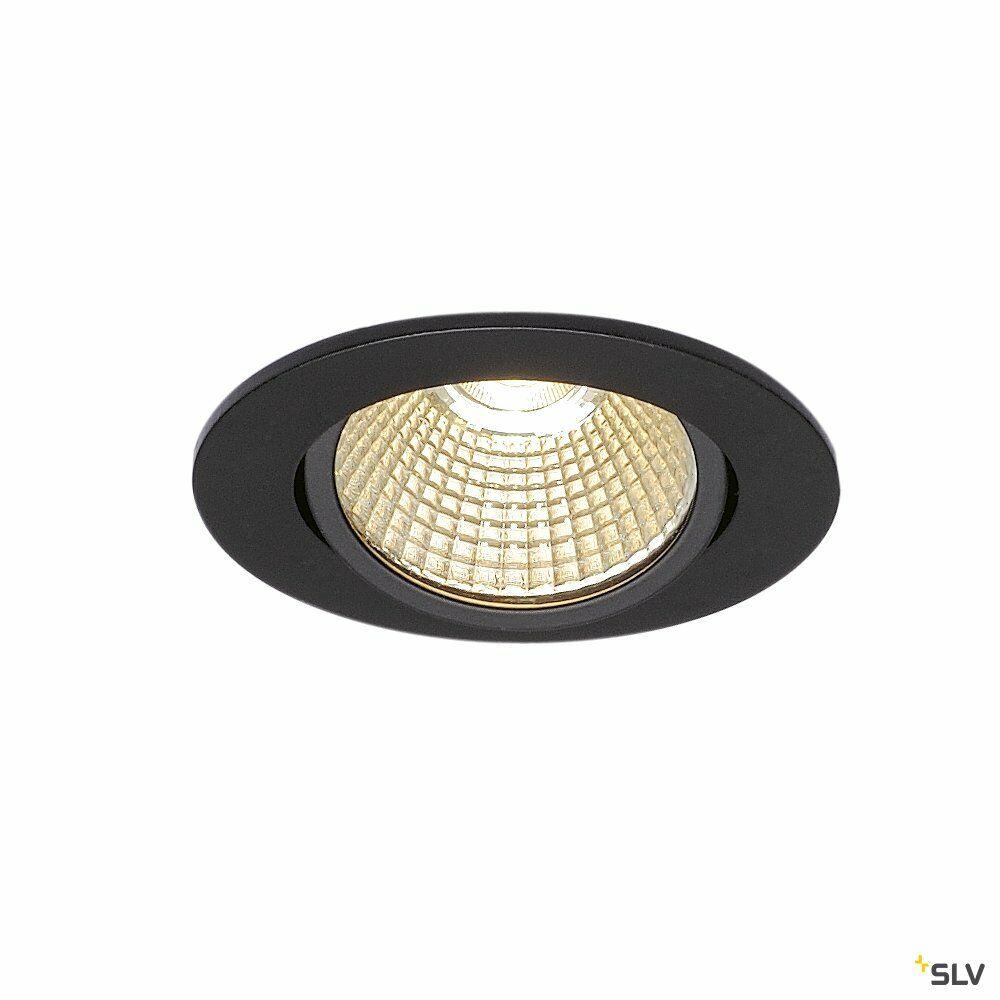 NEW TRIA rund, LED Indoor Deckeneinbauleuchte, schwarz, 1800-3000K, 7,2W