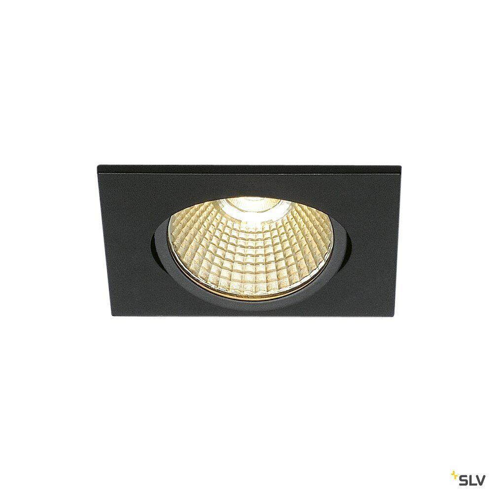 NEW TRIA eckig, LED Indoor Deckeneinbauleuchte, schwarz, 1800-3000K, 7,2W