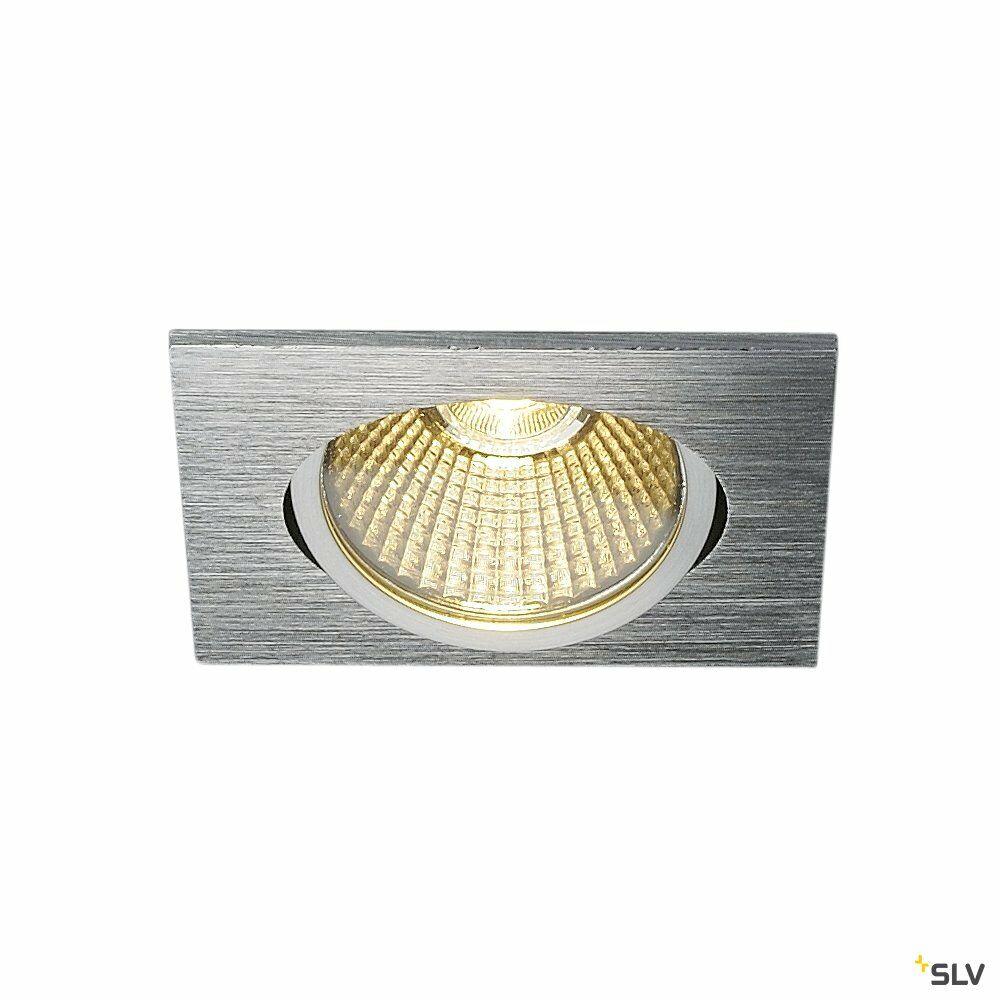 NEW TRIA eckig, LED Indoor Deckeneinbauleuchte, alu gebürstet, 1800-3000K 7,2W
