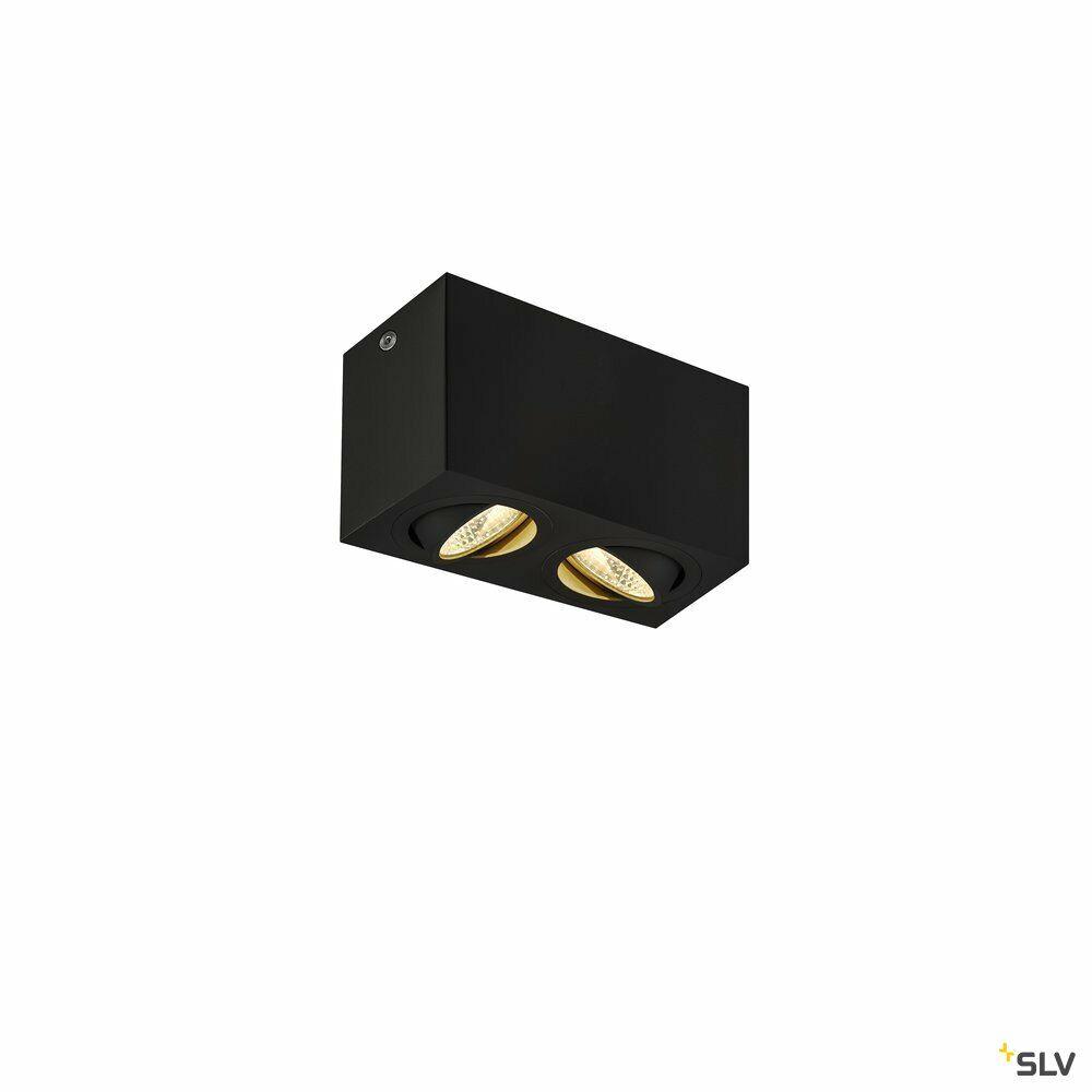 TRILEDO Double, LED Indoor Deckenaufbauleuchte, schwarz, 3000K, 16W