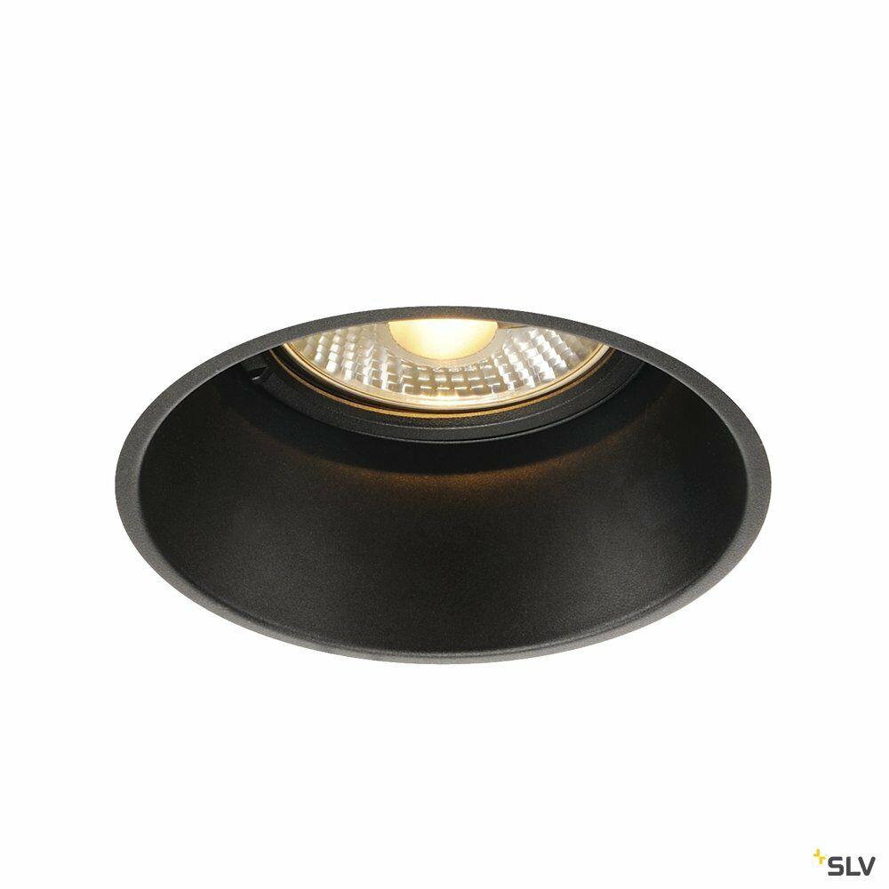 HORN-T, Einbauleuchte, QPAR111, rund, schwarz, 75 W max.