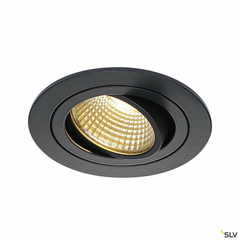 NEW TRIA 1 SET, Einbauleuchte, einflammig, LED, 2700K, rund, schwarz matt, 38°, 9,1W, inkl. Treiber, Clipfedern