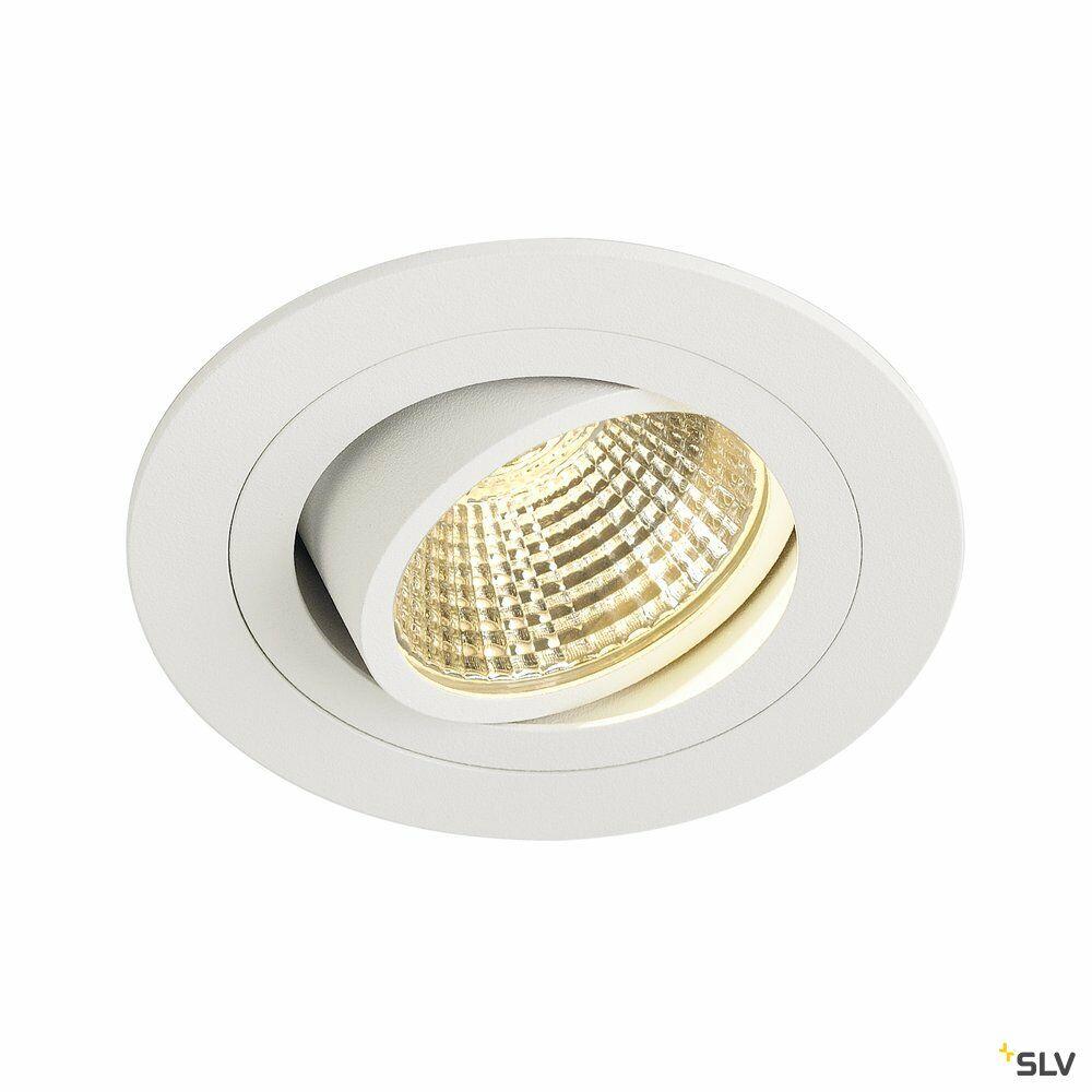 NEW TRIA 1 SET, Einbauleuchte, einflammig, LED, 2700K, rund, weiß, 38°, 9,1W, inkl. Treiber, Clipfedern