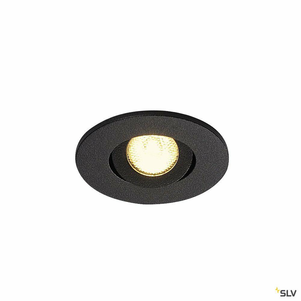 NEW TRIA MINI SET, Einbauleuchte, LED, 3000K, rund, schwarz, 30°, inkl. Treiber, Clipfedern