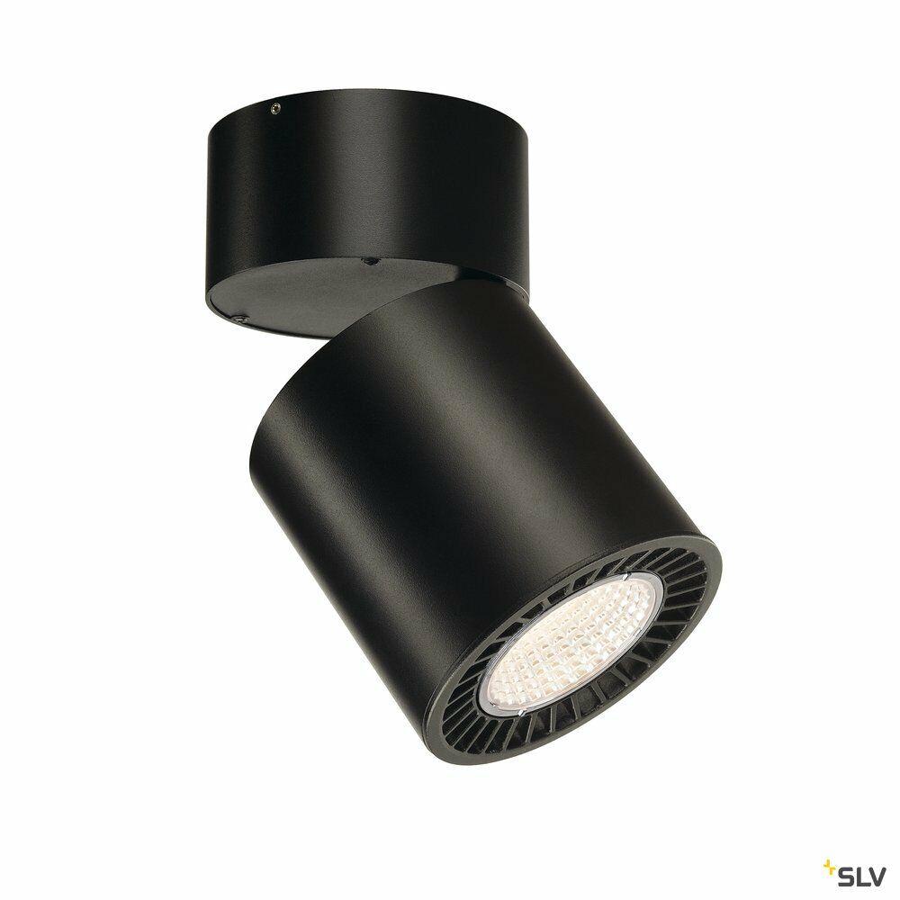 SUPROS, Deckenleuchte, LED, 3000K, rund, schwarz, 2100lm, 60° Reflektor, inkl. Clipfedern