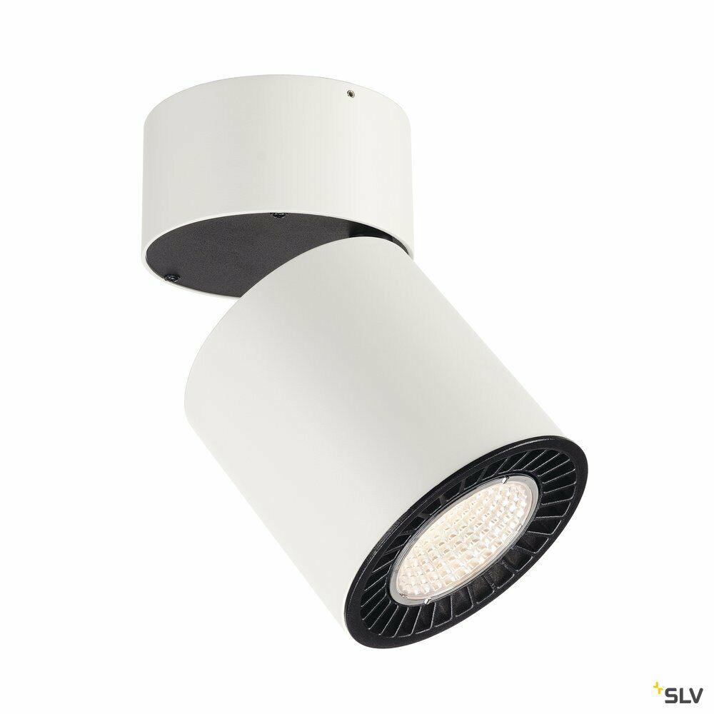 SUPROS, Deckenleuchte, LED, 3000K, rund, weiß, 2100lm, 60° Reflektor, inkl. Clipfedern