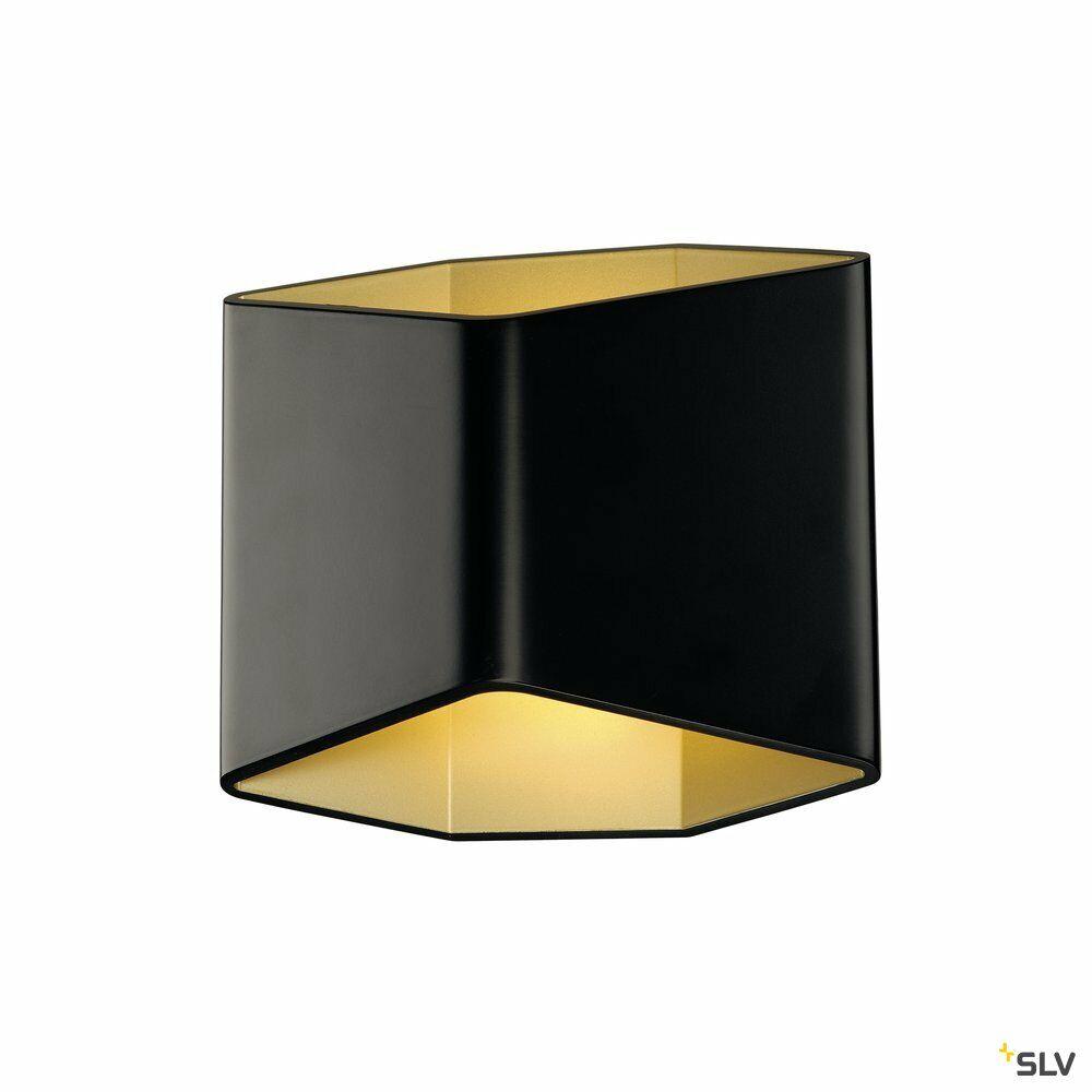 CARISO 2 WL Indoor LED Wandaufbauleuchte schwarz/gold 2700K