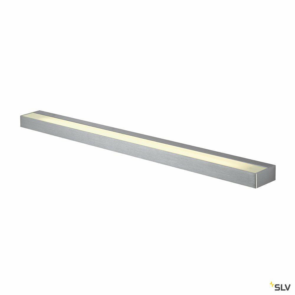 SEDO 21, Wandleuchte, LED, 3000K, eckig, aluminium gebürstet, Glas satiniert, L/B/H 89,5/8,5/4 cm, Energiesparleuchte, 33 W