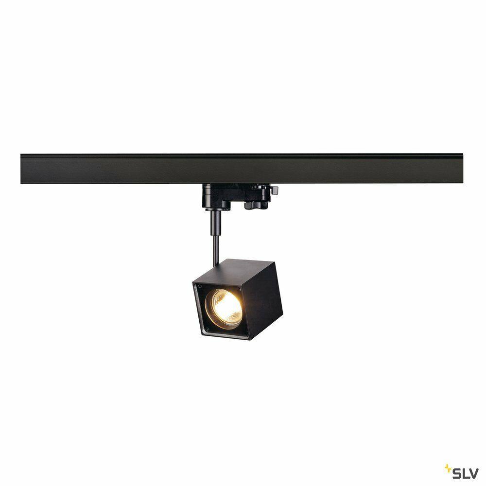 ALTRA DICE, Spot für Hochvolt-Stromschiene 3Phasen, QPAR51, eckig, schwarz, max. 50W, inkl. 3Phasen-Adapter