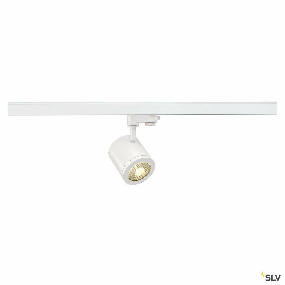 ENOLA_C, Spot für Hochvolt-Stromschiene 3Phasen, LED, 3000K, rund, weiß, 35°, 11,2 W, inkl. 3Phasen-Adapter