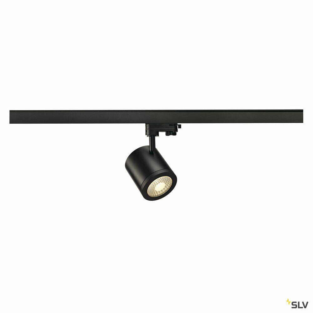 ENOLA_C, Spot für Hochvolt-Stromschiene 3Phasen, LED, 3000K, rund, schwarz, 55°, 11,2 W, inkl. 3Phasen-Adapter