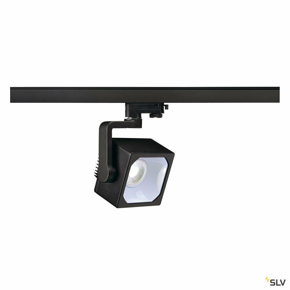 EURO CUBE, Spot für Hochvolt-Stromschiene 3Phasen, LED, 4000K, schwarz, 60°, inkl. 3Phasen-Adapter