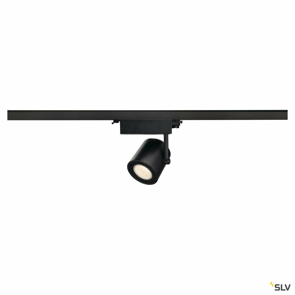 SUPROS, Spot für Hochvolt-Stromschiene 3Phasen, LED, 3000K, schwarz, 60° Reflektor, 33,5W, inkl. 3Phasen-Adapter