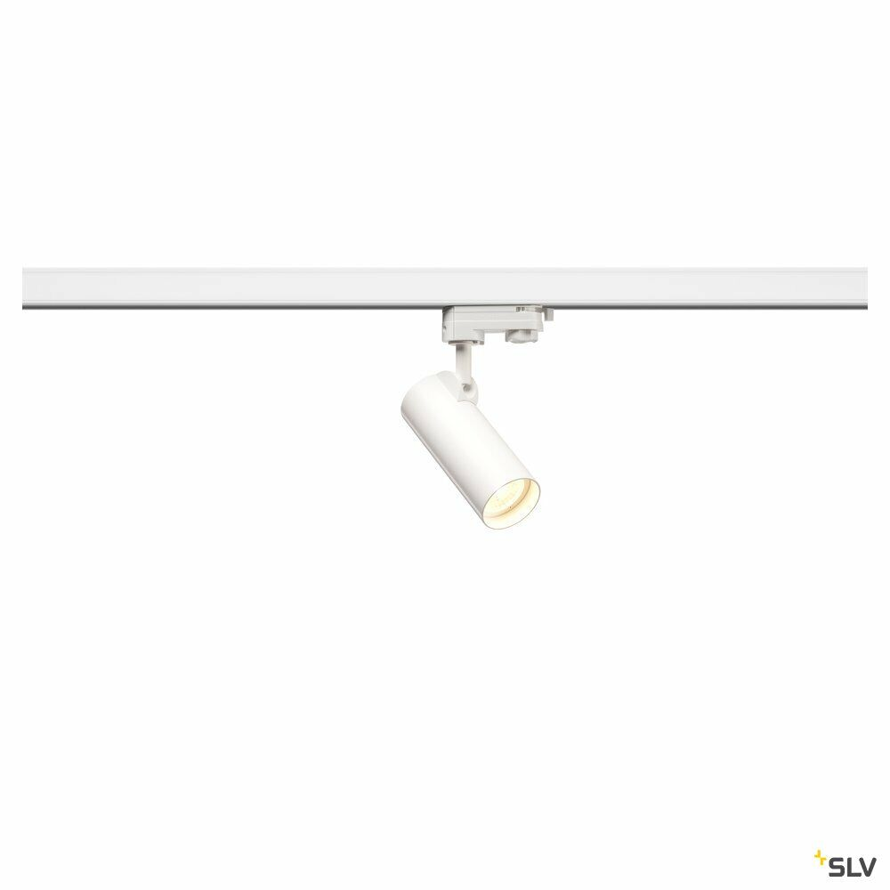 HELIA 50, Strahler für 3Phasen Hochvolt-Stromschiene, LED, 3000K, weiß, 35°, inkl. 3 Phasen-Adapter