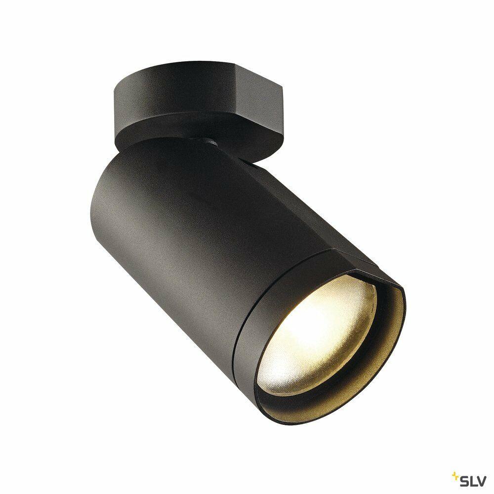 BILAS 1, Wand- und Deckenleuchte, Spot, einflammig, LED, 2700K, rund, schwarz matt, 25°, 16W, inkl. Rosette