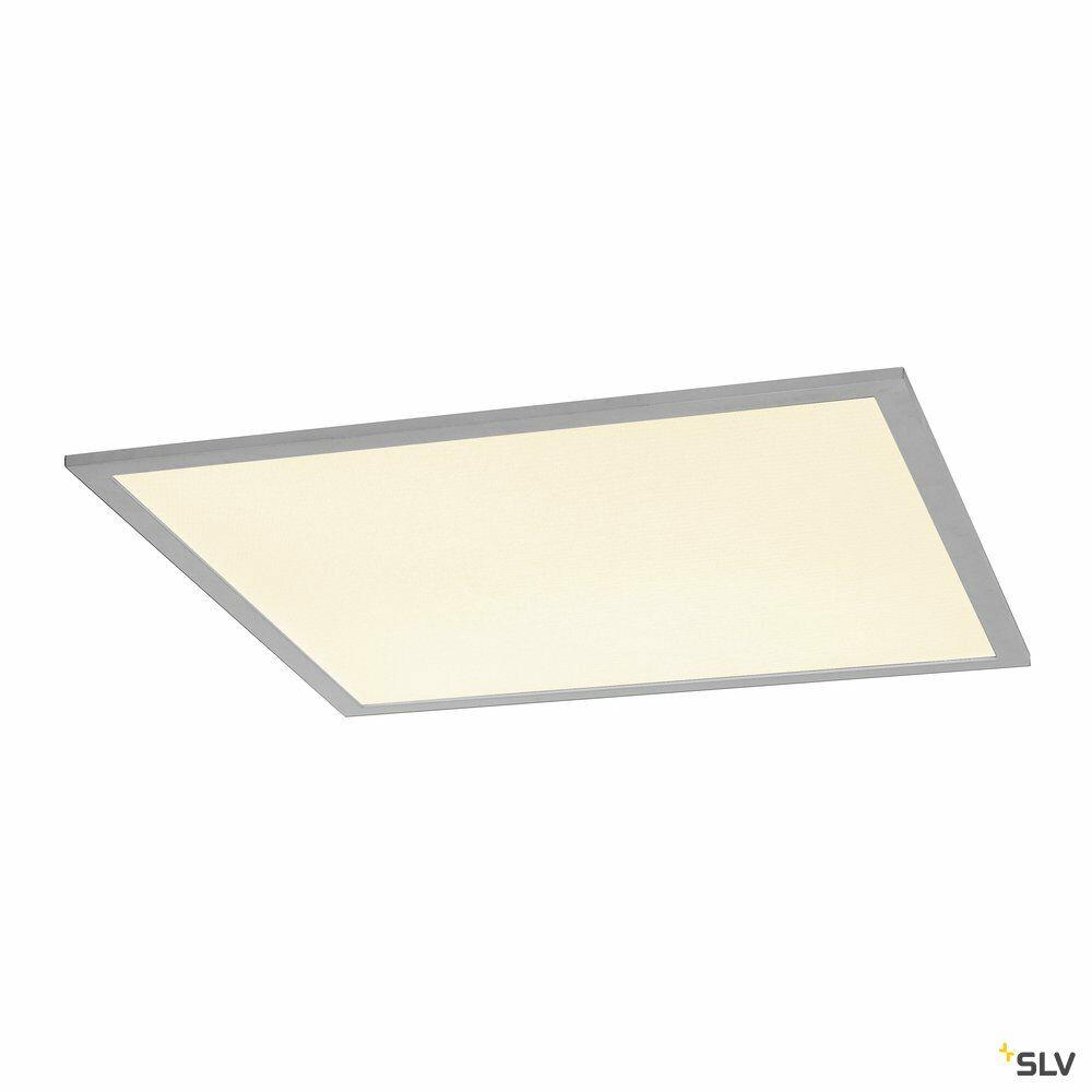 I-VIDUAL, Einbauleuchte, LED, 3000K, silber, für Rasterdecken, L/B/H 59,5/59,5/1,3 cm, 35W