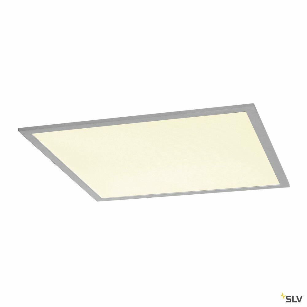 I-VIDUAL, Einbauleuchte, LED, 4000K, silber, für Rasterdecken, L/B/H 59,5/59,5/1,3 cm, 35W