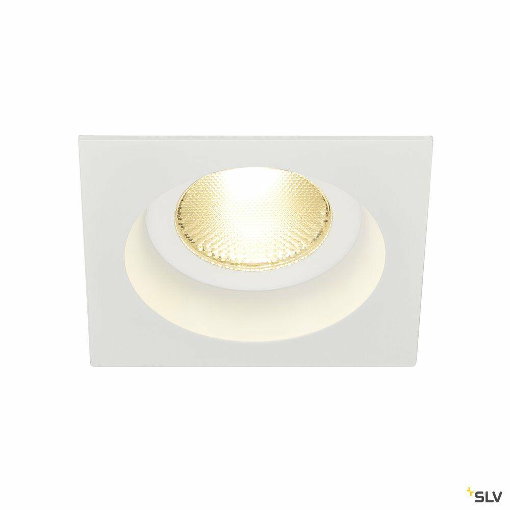 CONTONE, Einbauleuchte, LED, 2000-3000K, eckig, weiß, starr, 13W, inkl. Blattfedern