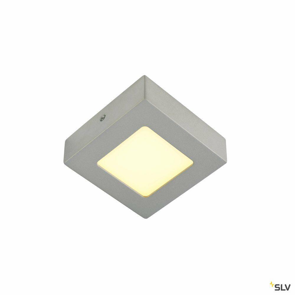 SENSER 6, Wand- und Deckenleuchte, LED, 3000K, eckig, silbergrau, 6W