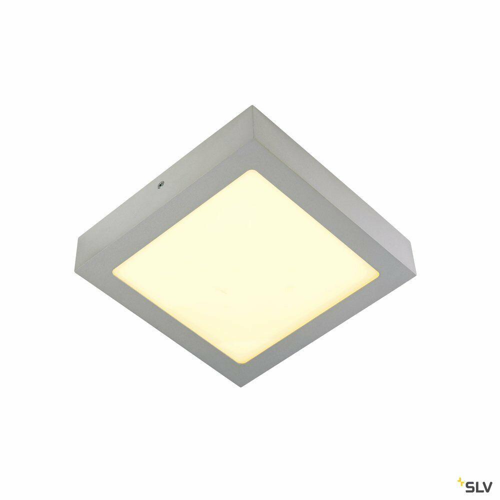 SENSER 14, Wand- und Deckenleuchte, LED, 3000K, eckig, silbergrau, 14W