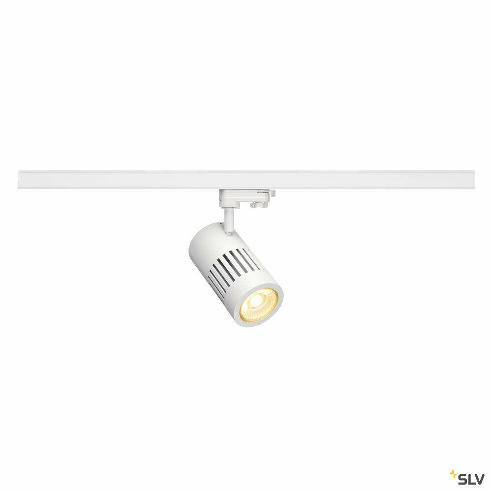 STRUCTEC, Spot für Hochvolt-Stromschiene 3Phasen, LED, 3000K, rund, weiß, 60°, 36W, inkl. 3Phasen-Adapter