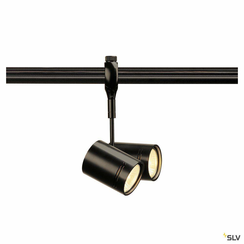 BIMA 2, Spot für Hochvolt-Stromschiene  EASYTEC II, QPAR51, zweiflammig, schwarz, 2x50W max.