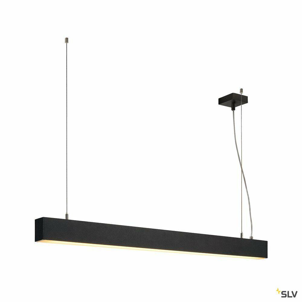 GLENOS, Profilpendelleuchte, LED, 3000K, schwarz, 1 m, 43W