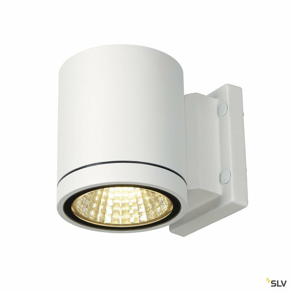 ENOLA_C, Outdoor Wandleuchte, LED, 3000K, IP55, rund, weiß, Ø/H 10/11,8 cm, 35°