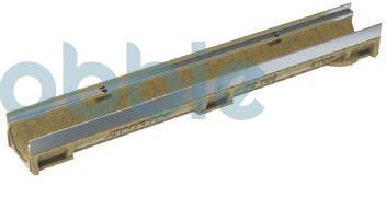 KCE-100 Stirnwand mit Rohrstutzen und verzinkter Stahlzarge